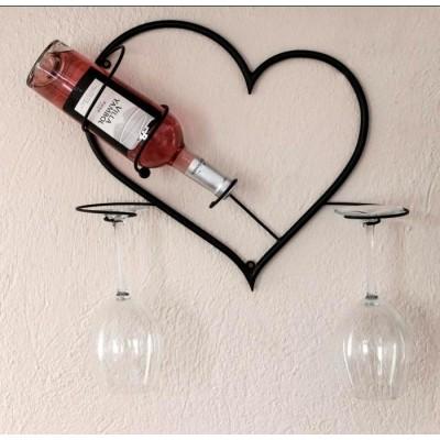 """Поставка за вино """"Сърце"""" Стелажи за вино"""