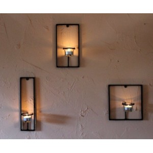 """Комплект стенни свещници """"Трио"""" Свещници"""