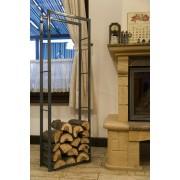 Поставка за дърва - сива Аксесоари