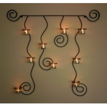 """Candle wall sconce """"Romance"""" - black"""