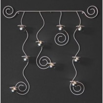 "Candle wall sconce ""Romance"" - white"